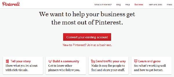 Pinterest Convert Account