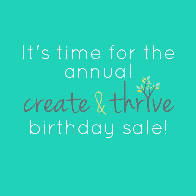 Create Thrive Birthday Sale