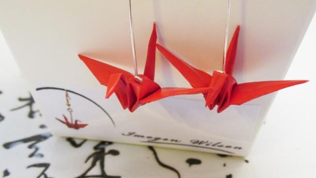 imogenwilson--origami-crane-red-earrings-close-up