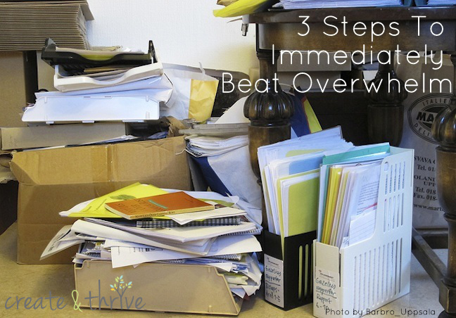 3 steps to immediately beat overwhelm