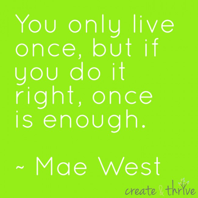 Mae West - Once is enough - Low Res for Internet