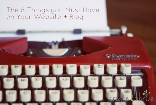6 things you must have on your blog and website