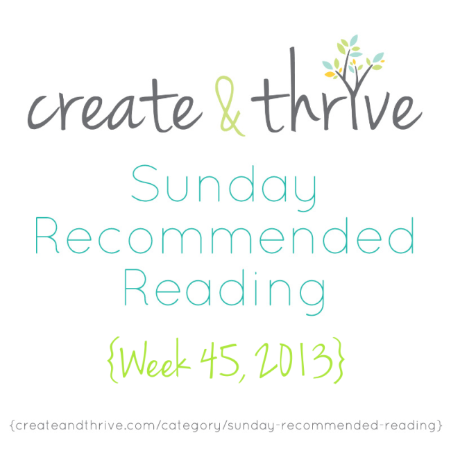 C&T Recommended Reading Week 45 2013