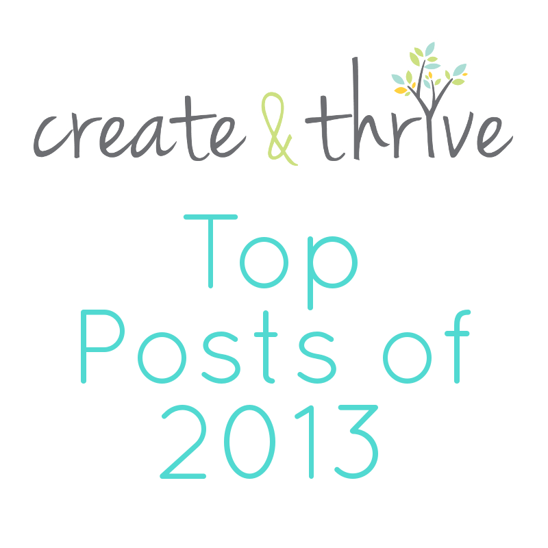 Create & Thrive top posts of 2013