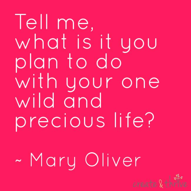 Mary Oliver - Wild and precious life