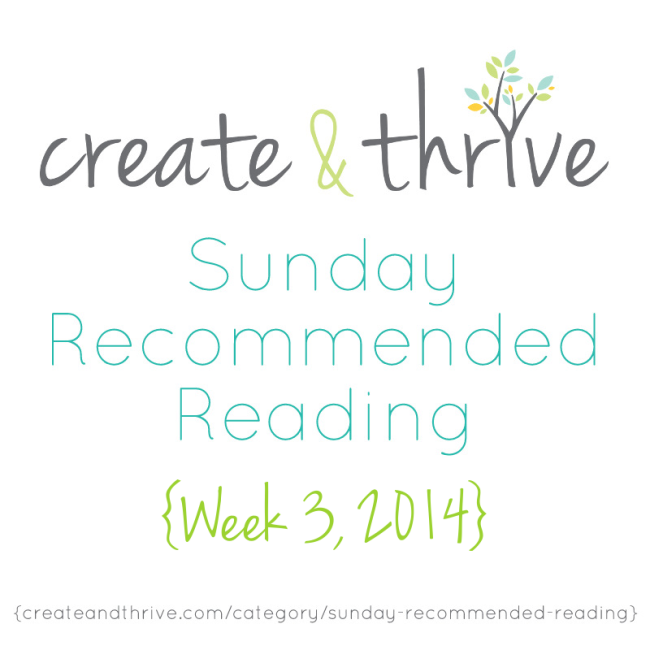 C&T Recommended Reading Week 3, 2014