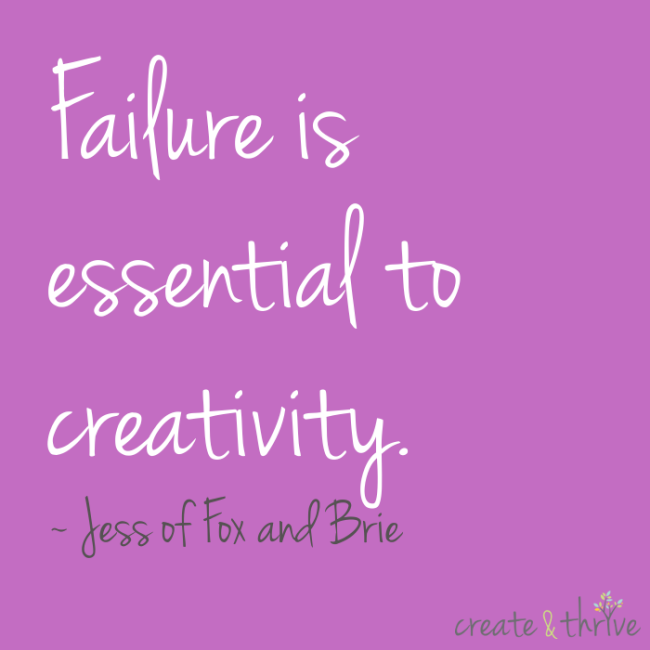 Failure is essential to creativity