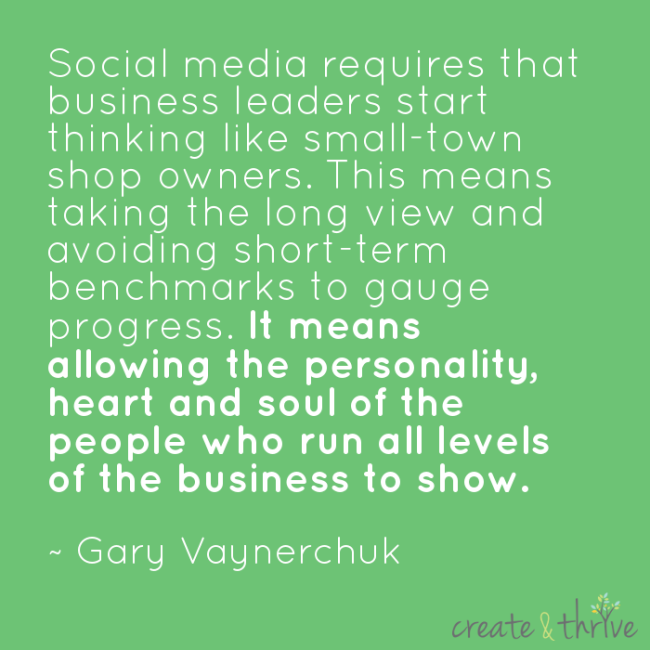 Social media should sow the personality, heart, and soul of the people in the business