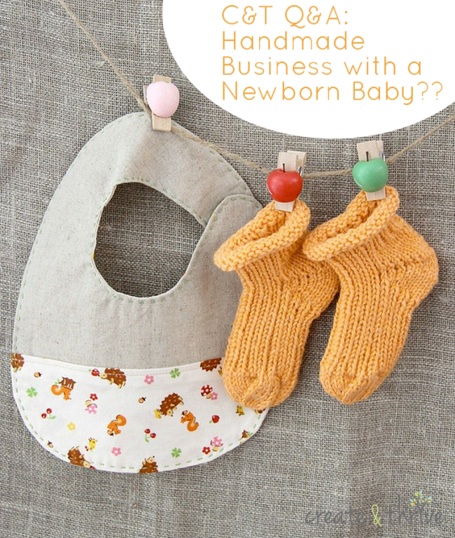 handmade business with a baby