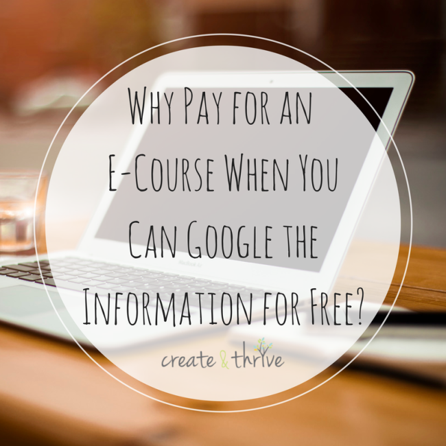 Why Pay for an E-Course When You Can