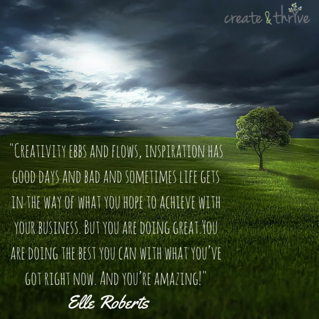 Creativity Ebbs and Flows