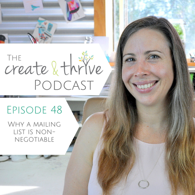 Ep 48 - Create & Thrive Podcast