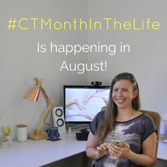 #CTMonthInTheLife is happening in August.