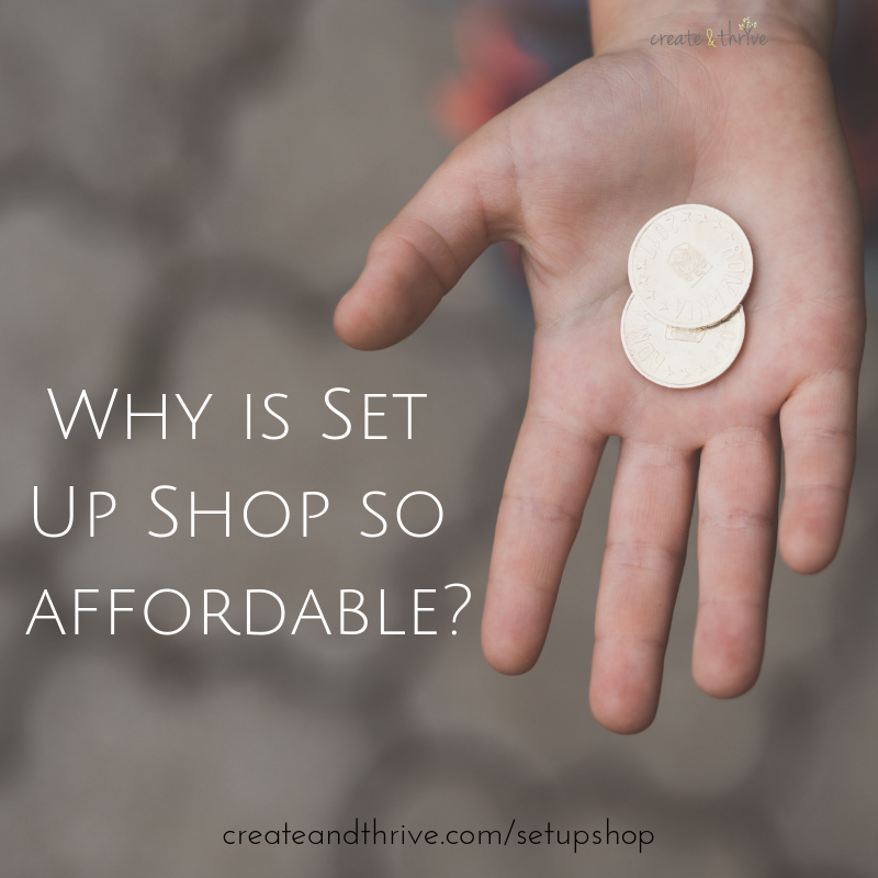 Why is Set Up Shop so affordable?